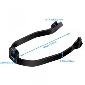 Výstuž zadného blatníka kolobežky Xiaomi Mi Electric Scooter / Pro čierna