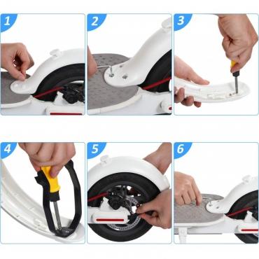 Výstuž zadného blatníka kolobežky Xiaomi Mi Electric Scooter / Pro biela