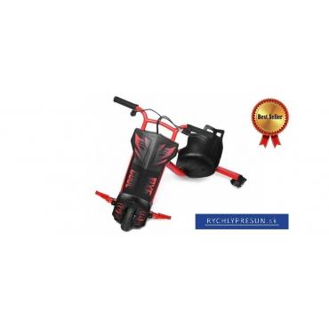 Elektrická driftovacia trojkolka červená